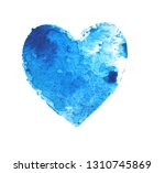 Blue Heart Ocean. Drawing...