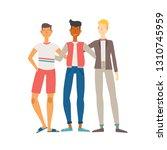 vector illustration of three... | Shutterstock .eps vector #1310745959