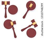 judge gavel vector cartoon set... | Shutterstock .eps vector #1310748299