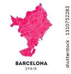 vector city map of barcelona... | Shutterstock .eps vector #1310752283