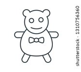 bear toy concept line icon....