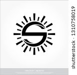 s sun logo template   Shutterstock .eps vector #1310758019