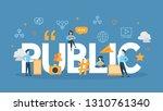 public concept illustration.... | Shutterstock . vector #1310761340