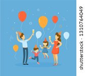 children on party with parents... | Shutterstock . vector #1310764049