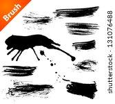 set of grunge vector pen | Shutterstock .eps vector #131076488