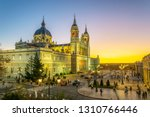 sunset view of the almudena... | Shutterstock . vector #1310766446