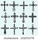 religious cross design...   Shutterstock .eps vector #131076770