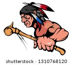 american indian chief mascot... | Shutterstock .eps vector #1310768120
