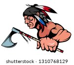 american indian chief mascot... | Shutterstock .eps vector #1310768129