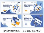 set of landing page design... | Shutterstock .eps vector #1310768759