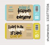 promotional coupon vector... | Shutterstock .eps vector #1310775536