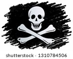 pirate flag with skull and... | Shutterstock .eps vector #1310784506