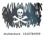 pirate flag with skull and... | Shutterstock .eps vector #1310784509