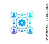 people interacting  management... | Shutterstock .eps vector #1310784836