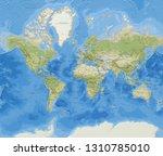 world map  3d illustration  | Shutterstock . vector #1310785010