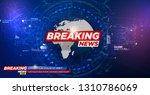 news background  breaking... | Shutterstock .eps vector #1310786069