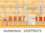 conveyor potato chips.flat... | Shutterstock .eps vector #1310790173