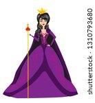 beautiful queen   isolated... | Shutterstock .eps vector #1310793680