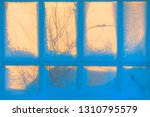 vintage type old window with... | Shutterstock . vector #1310795579