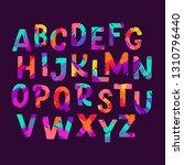 brush hand drawn alphabet made... | Shutterstock .eps vector #1310796440