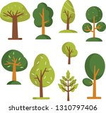 tree vector nature set garden... | Shutterstock .eps vector #1310797406