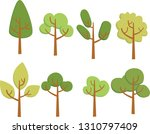 tree vector nature set garden... | Shutterstock .eps vector #1310797409