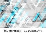 distressed grunge geometric... | Shutterstock .eps vector #1310806049