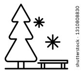 ski resort bench icon. outline... | Shutterstock .eps vector #1310808830
