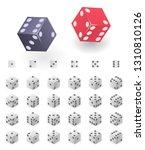 dice icons set. isometric set...   Shutterstock .eps vector #1310810126