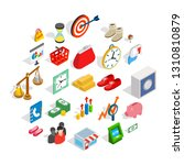 assistance to business icons...   Shutterstock .eps vector #1310810879