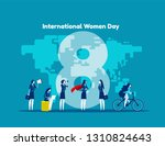 international women day.... | Shutterstock .eps vector #1310824643