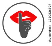 finger on lips. silence symbol. ... | Shutterstock .eps vector #1310826929