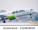 riga  february 2019  airbaltic...   Shutterstock . vector #1310828030