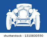 Silhouette Of Vintage Sport Car ...