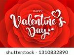 happy valentine's day message... | Shutterstock .eps vector #1310832890