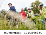 group of seniors on a bike tour ... | Shutterstock . vector #1310845850