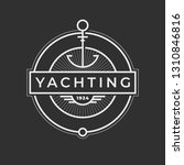 yachting club logo set.... | Shutterstock .eps vector #1310846816
