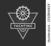 yachting club logo set.... | Shutterstock .eps vector #1310846819