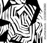 brush grunge pattern. white and ... | Shutterstock .eps vector #1310856080