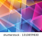 abstract colorful triangle...   Shutterstock .eps vector #1310859830
