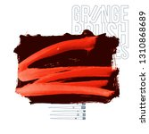 red brush stroke and texture.... | Shutterstock .eps vector #1310868689