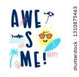 awesome slogan and hand drawing ... | Shutterstock .eps vector #1310875463