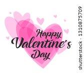 happy valentines day typography ...   Shutterstock .eps vector #1310875709