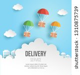 fast delivery and logistic... | Shutterstock .eps vector #1310875739