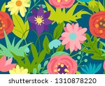 seamless pattern with spring... | Shutterstock .eps vector #1310878220