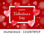 happy valentine's day lettering ... | Shutterstock .eps vector #1310878919