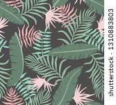 tropical background with palm...   Shutterstock .eps vector #1310883803
