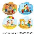 ruins of old city vector ... | Shutterstock .eps vector #1310890130
