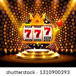 Stock vector king slots banner casino on the golden background vector illustration 1310900393