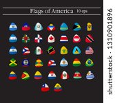 set of world flags round badges.... | Shutterstock .eps vector #1310901896